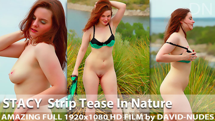 Stacy Strip Tease in Nature