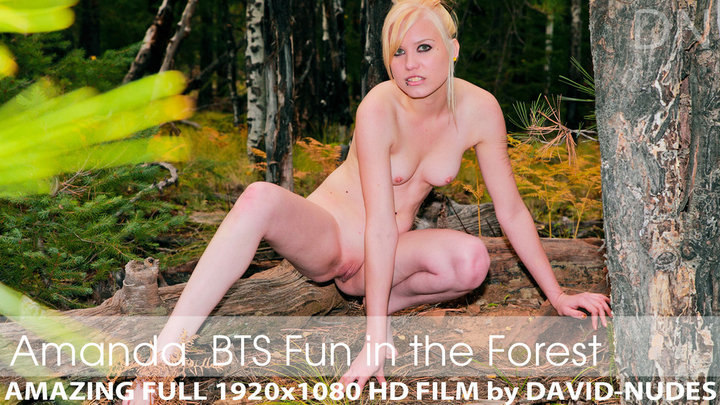 Amanda presents Spotted! Naked Young Chick in the Forest