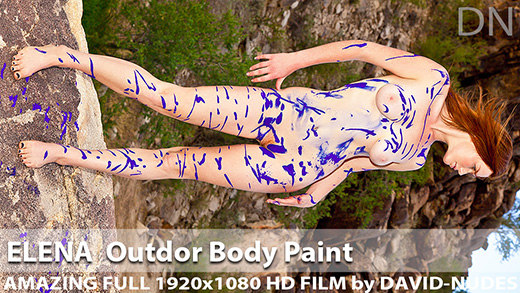 Play  Elena Outdoor Body Paint