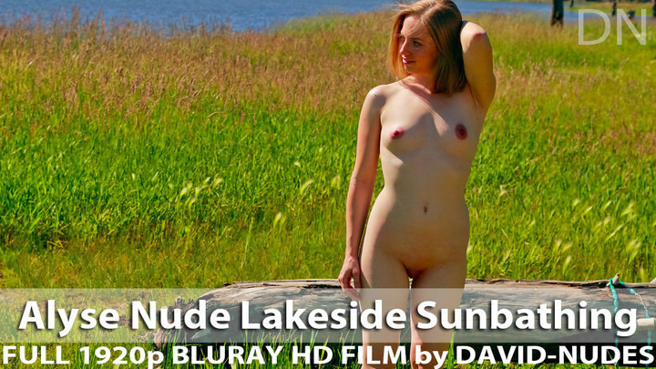 Alyse Nude Lakeside Sunbathing