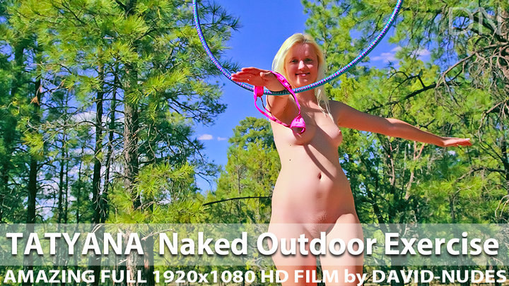 Tatyana Naked Outdoor Exercise