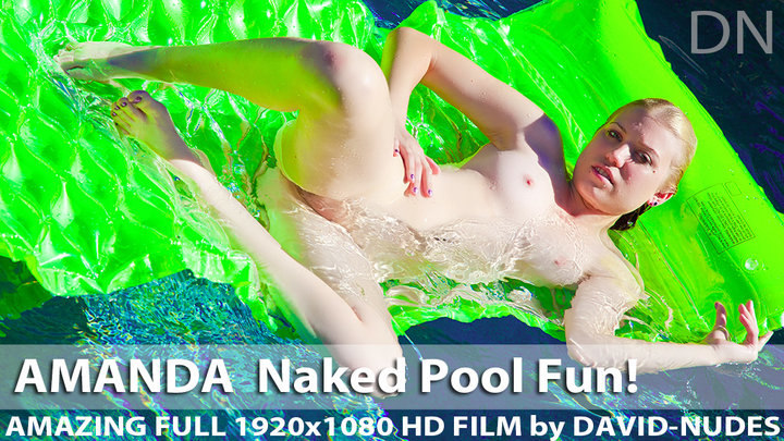 Amanda Naked Pool Fun