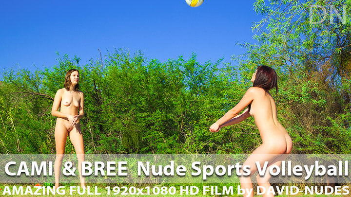 Cami and Bree Nude Sports Volleyball