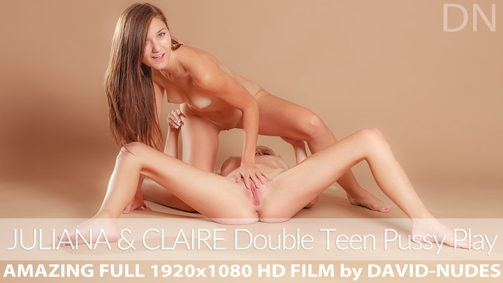 Claire presents Double Teen Pussy Play